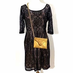 Betsey Johnson Lace Party Dress 8 EUC